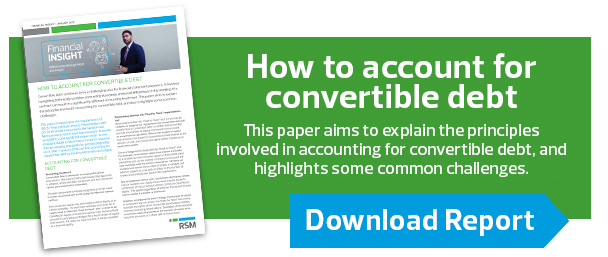 Want to know more information about the accounting treatment and common issues with convertible debt