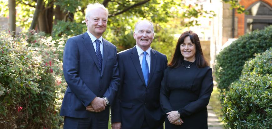 Pictured L to R: Managing Partner, John Glennon; Tim O Connor, Senior Advisor and Catherine Corcoran, Head of Management Consulting